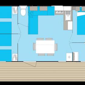 camping-mobil-home-bretagne-4-fleurs-laplage-6-personnes-plan