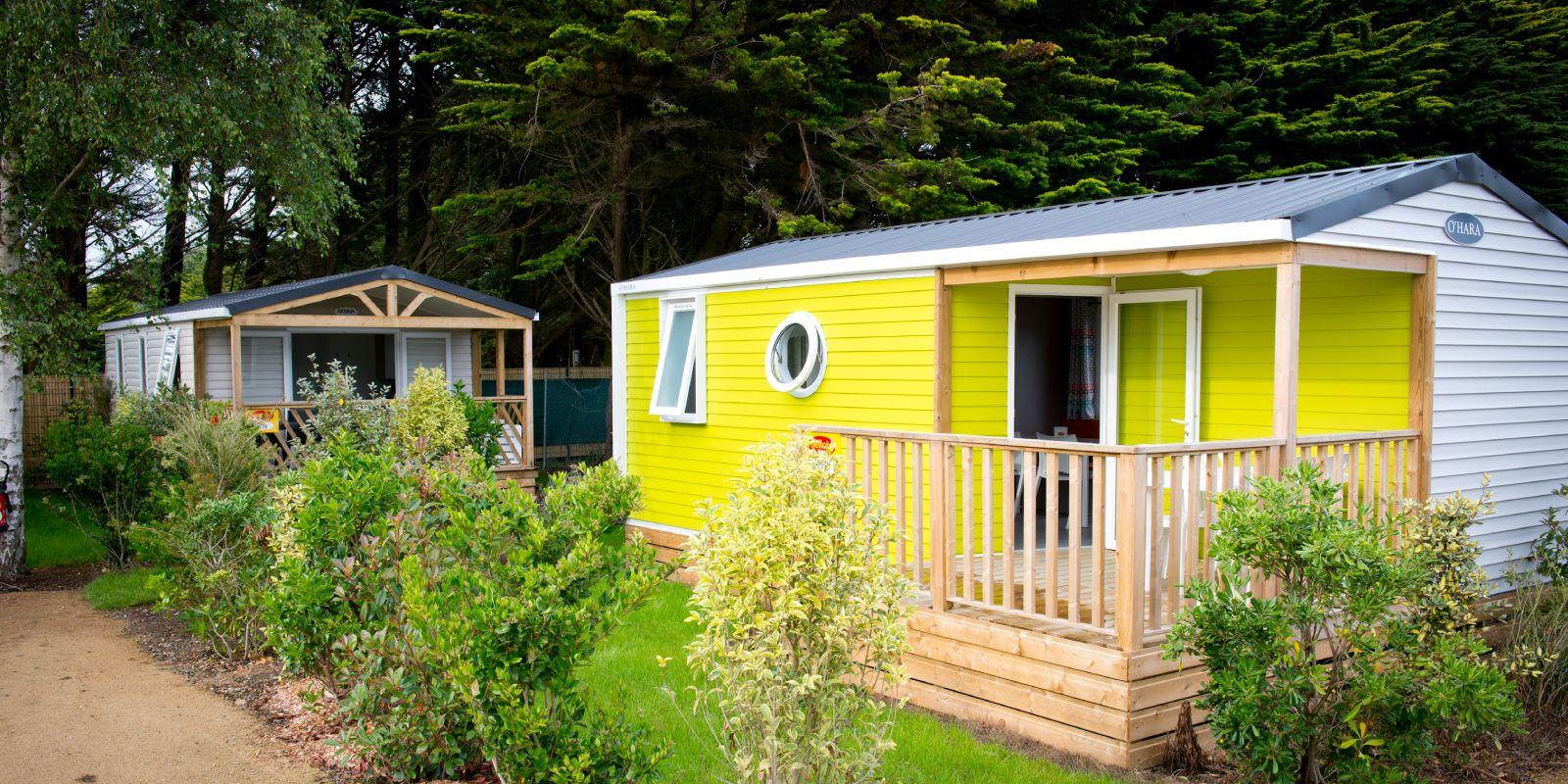 camping mobil home bretagne Cottage Bay 4 personnes exterieur B1